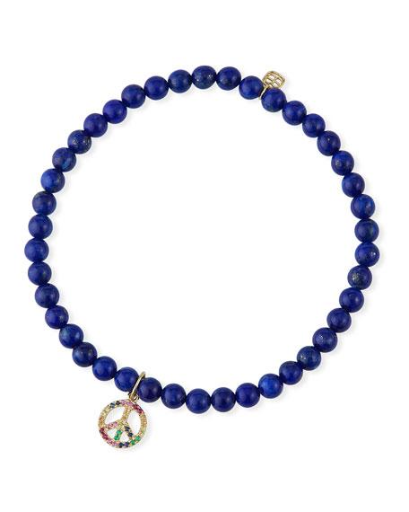 Sydney Evan 14k Sapphire Peace & Lapis Bracelet