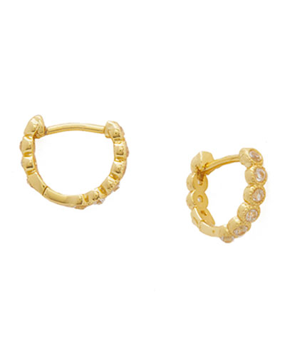 Madison Shimmer Huggie Hoop Earrings