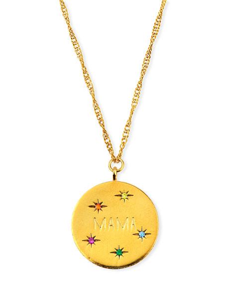 Tai MAMA Coin Pendant Necklace w/ Cubic Zirconia