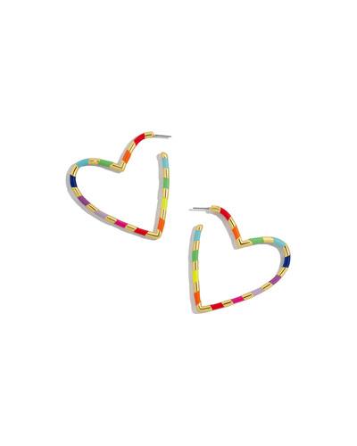 Annaelle Heart Hoop Earrings