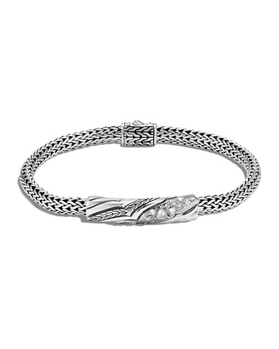 Lahar Diamond-Station Chain Bracelet, Size S-L