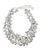 NEST Jewelry Gray Pearl Cluster Necklace
