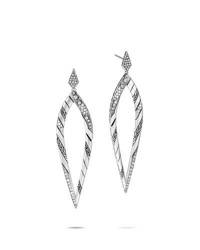 Lahar Diamond Long-Drop Earrings
