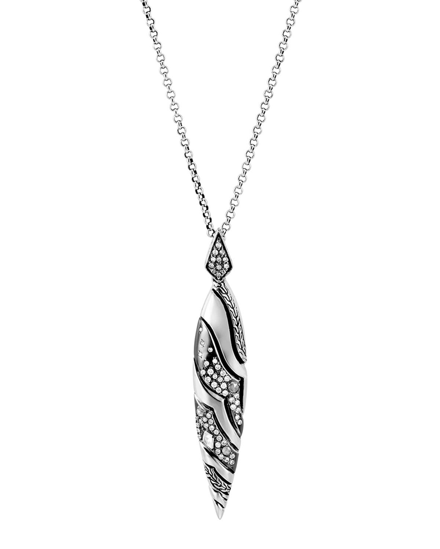 Lahar Diamond Drop Pendant Necklace