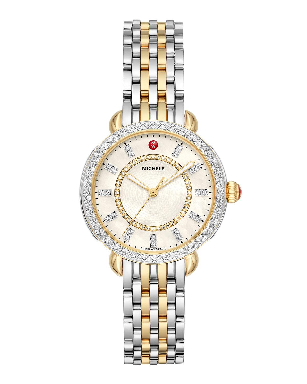 Sidney Classic Diamond Two-Tone Watch