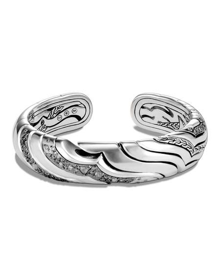 John Hardy Lahar Diamond 15mm Cuff Bracelet, Size S-L