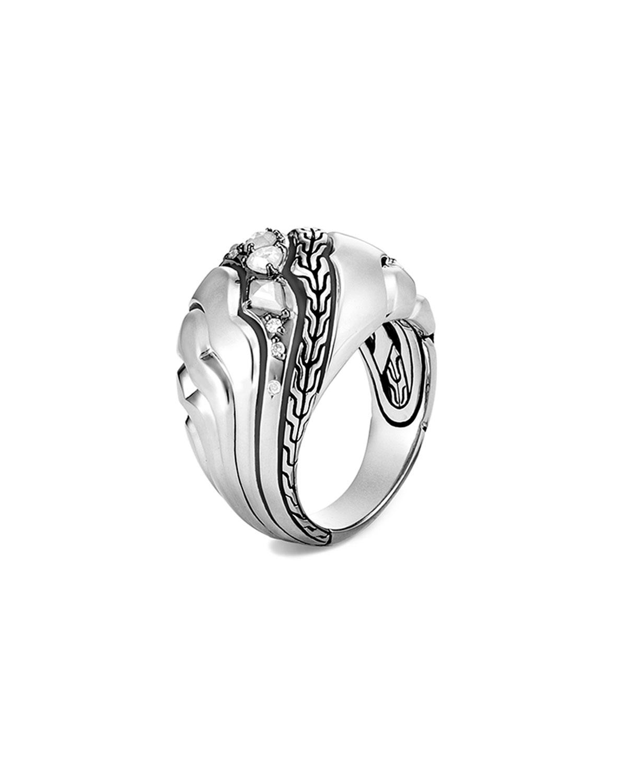 Lahar Diamond Dome Ring