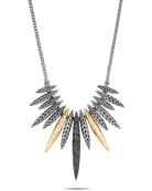 John Hardy Classic Chain Mixed-Spear Necklace w/ 18k