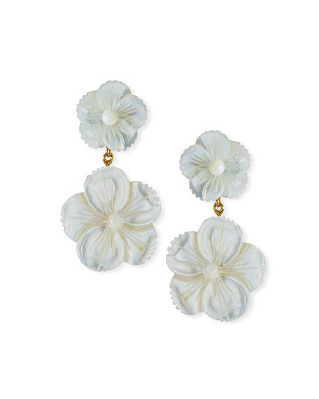 Jennifer Behr Tessa Flower-Dangle Earrings