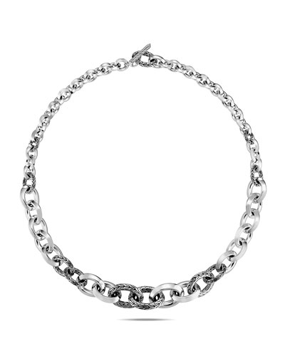 Classic Chain Knife-Edge Link Necklace, 18