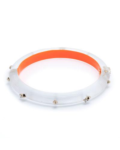 Studded Hinge Bracelet, Silver
