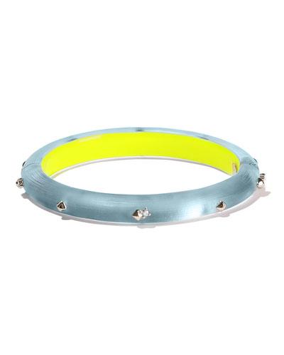 Studded Hinge Bracelet, Blue
