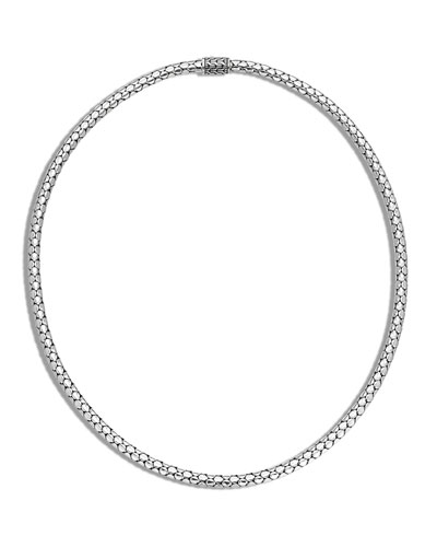 Dot Slim Chain Necklace with Pusher Clasp, 18
