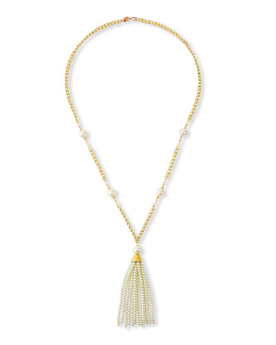 Pearly Tassel Necklace