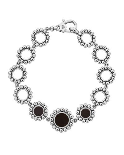 Maya Onyx Circle-Link Bracelet
