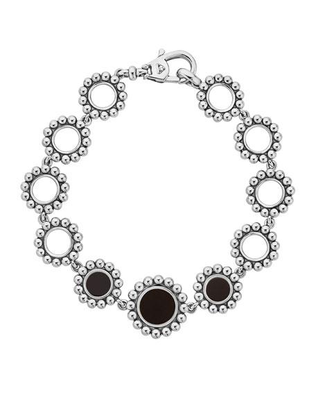 Lagos Maya Onyx Circle-Link Bracelet