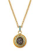 Jose & Maria Barrera Long Coin Pendant Necklace