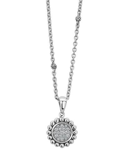 Caviar Spark Diamond Circle Pendant Necklace