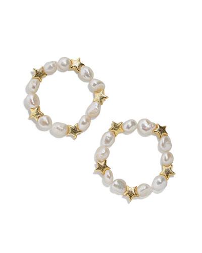 Sofianne Pearl Beaded Bracelets, Set of 2