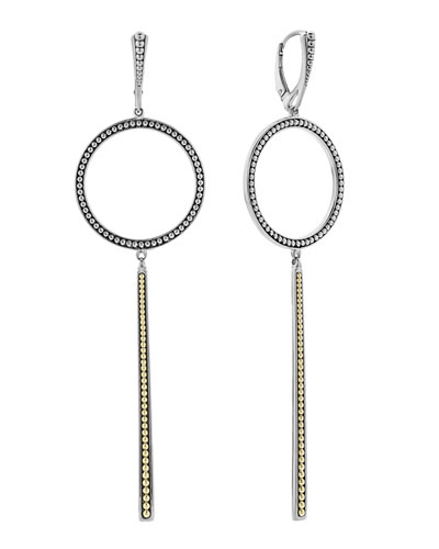 Enso Circle & Linear Drop Earrings
