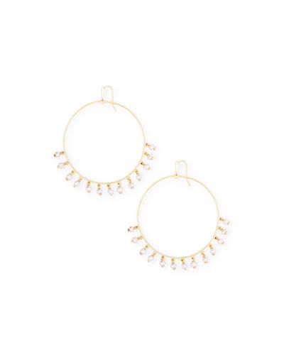 Hilty Pearl-Shaker Hoop Earrings