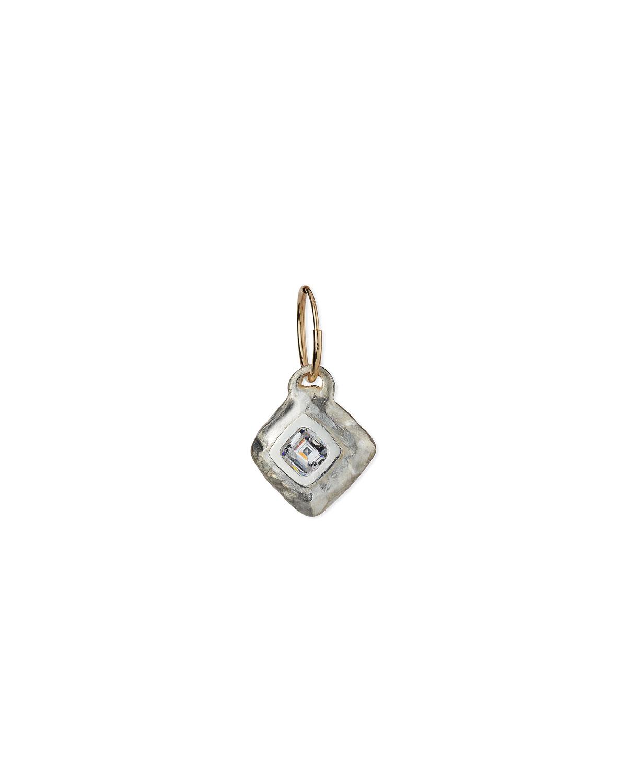 Diamond-Shaped Roma Cubic Zirconia Earring