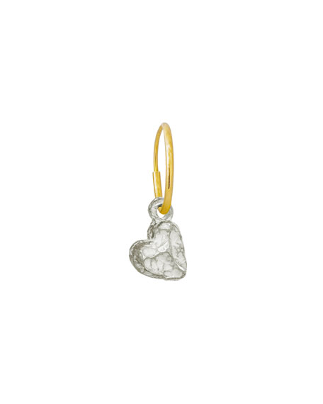 Lee Brevard Tiny Lotus Heart Earring, Single