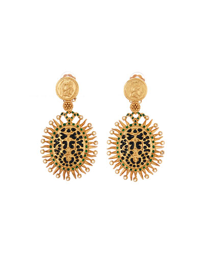 Decorative Medallion Clip Earrings