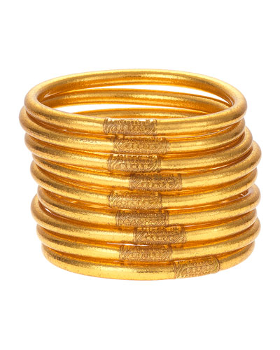 All-Weather Bangles, Gold, Size S-L