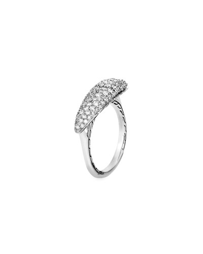 Classic Chain Diamond Pave Ring, Size 6-8