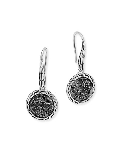 Classic Chain Black Sapphire Drop Earrings