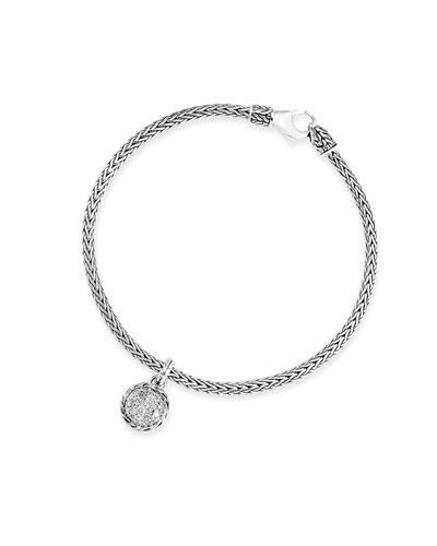 Classic Chain Diamond Charm Bracelet, Size S-L