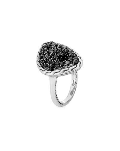 Classic Chain & Black Sapphire Ring