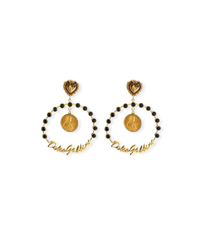Crazy for Sicily Hoop Earrings
