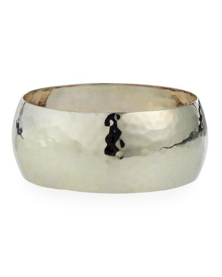 NEST Jewelry Large Hammered Bangle Bracelet