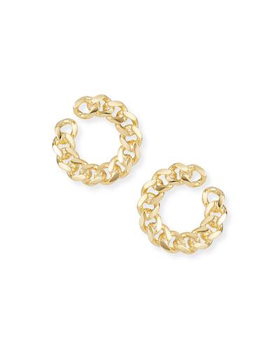 Rocco Front-Facing Link Hoop Earrings