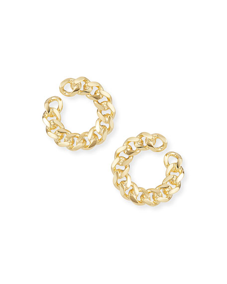 Auden Rocco Front-Facing Link Hoop Earrings