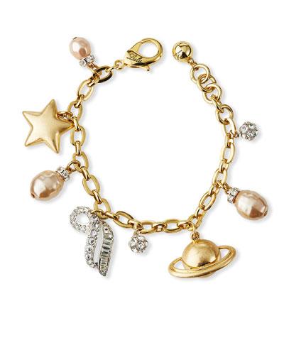 Saturn Charm Bracelet