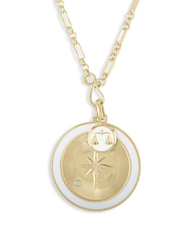 Libra & White Northern Star Charm Set Necklace