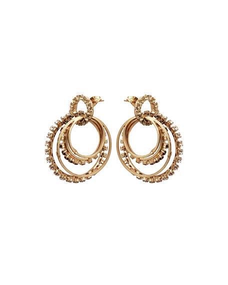 Rosantica Rock Crystal Link Earrings