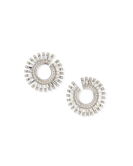 Auden Valeria Crystal Hoop Earrings