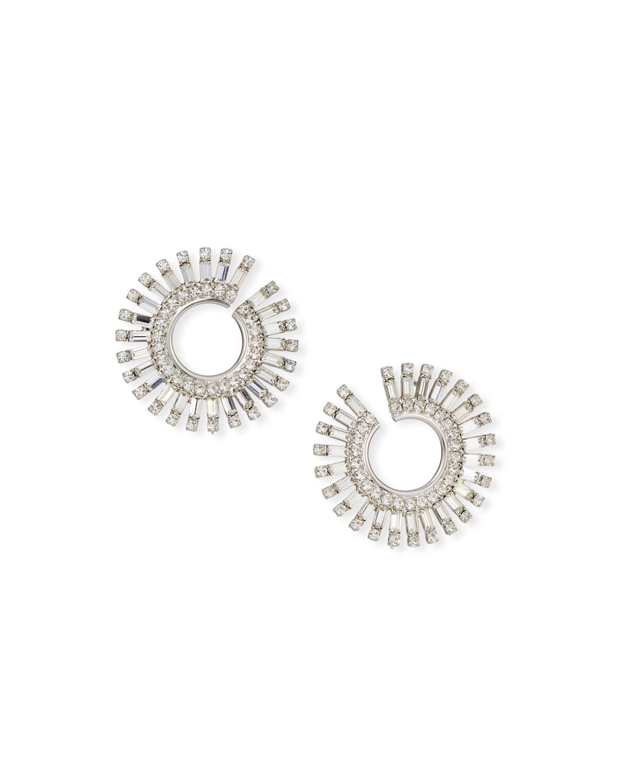 Valeria Crystal Hoop Earrings