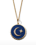 Sydney Evan 14k Diamond & Enamel Celestial Necklace