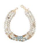 Akola Bone & Horn Multi-Row Necklace