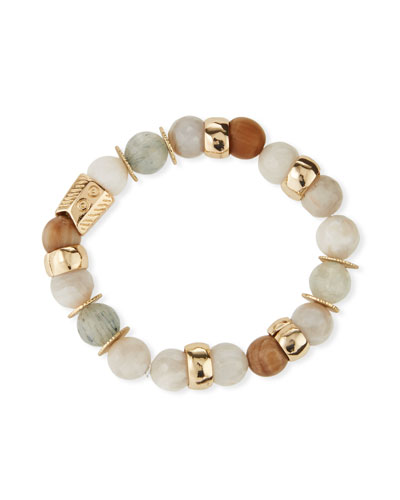 Quartz & Agate Stretch Bracelet