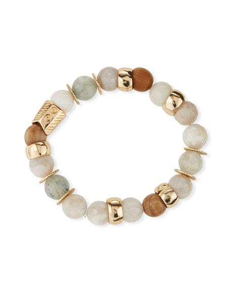 Akola Quartz & Agate Stretch Bracelet