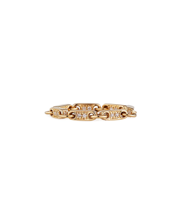 Sydney Evan Accessories 14K GOLD ELONGATED DIAMOND-LINK RING