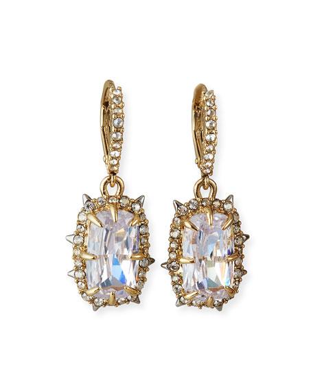 Alexis Bittar Crystal Framed Cushion Earrings