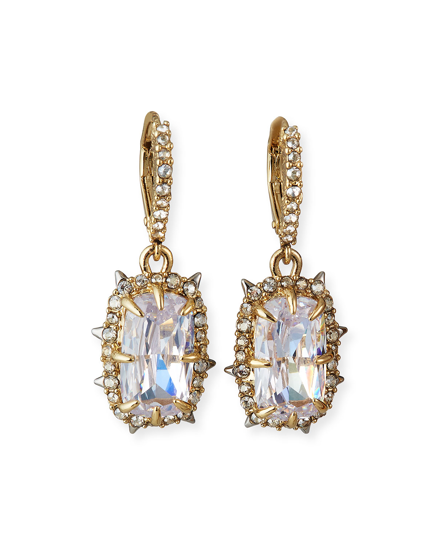 Crystal Framed Cushion Earrings