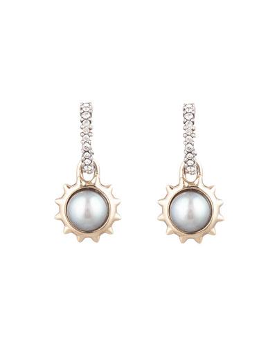 Georgian Pearl-Drop Stud Earrings